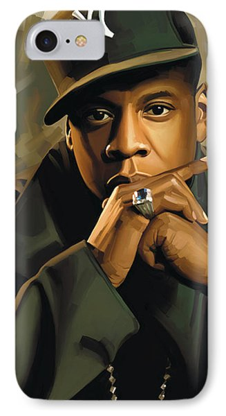 Jay-z Artwork 2 IPhone Case by Sheraz A