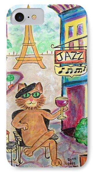 Jazz Cat Phone Case by Diane Pape