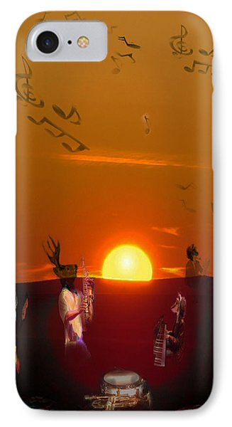 IPhone Case featuring the digital art Jazz Fest by Cathy Anderson