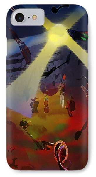 IPhone Case featuring the digital art Jazz Fest II by Cathy Anderson