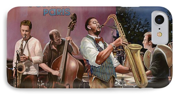 jazz festival in Paris Phone Case by Guido Borelli