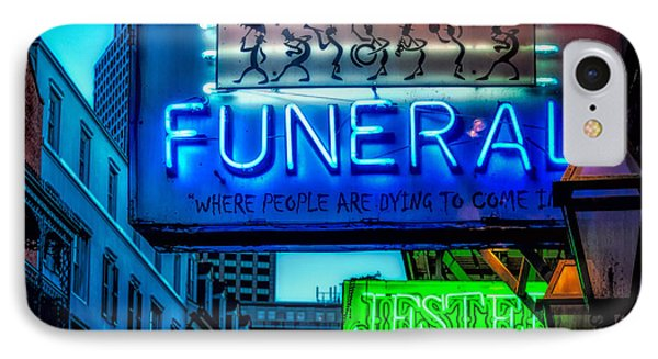 Jazz Funeral And Jester On Bourbon St. IPhone Case by Kathleen K Parker