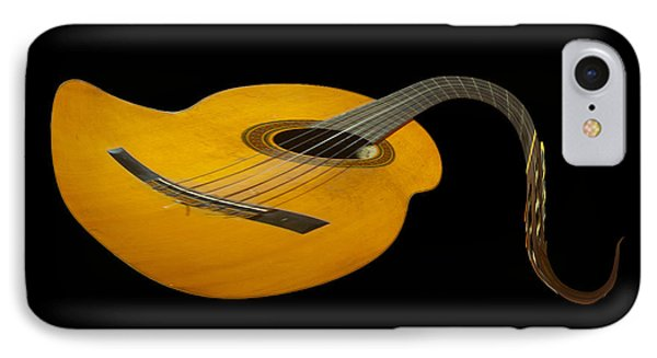 Jazz Guitar 2 IPhone Case by Debra and Dave Vanderlaan