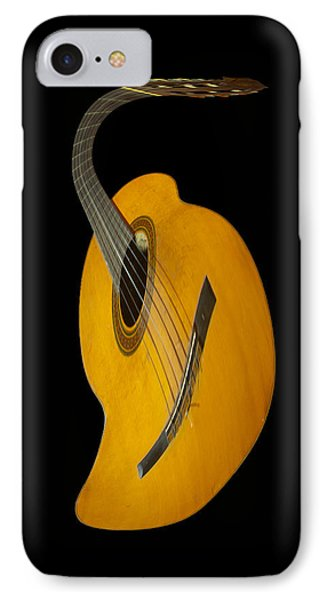 Jazz Guitar IPhone Case by Debra and Dave Vanderlaan