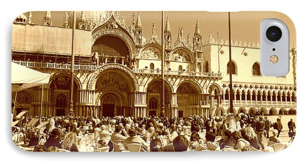 Jazz In Piazza San Marco IPhone Case by Ramona Matei