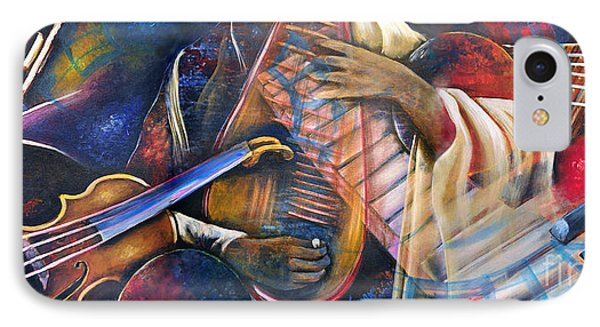 Jazz In Space Phone Case by Ka-Son Reeves