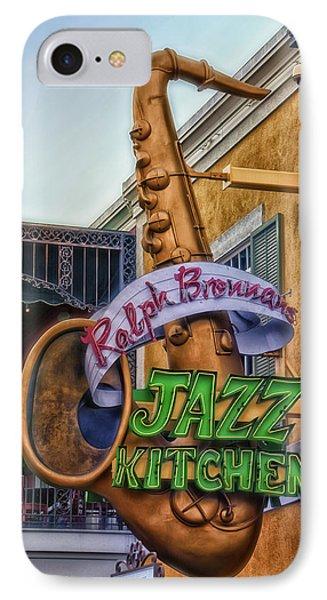 Jazz Kitchen Signage Downtown Disneyland Phone Case by Thomas Woolworth