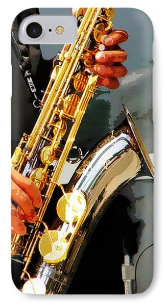 Jazz Man IPhone Case by John Freidenberg