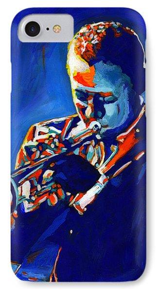 Trumpet iPhone 7 Case - Jazz Man Miles Davis by Vel Verrept