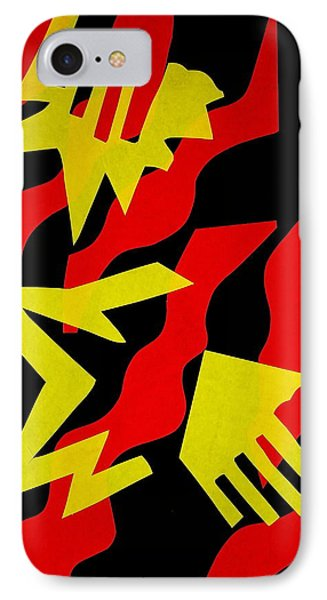 IPhone Case featuring the mixed media Jazz by Michele Myers