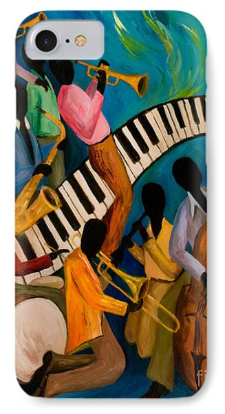 Jazz On Fire IPhone 7 Case by Larry Martin