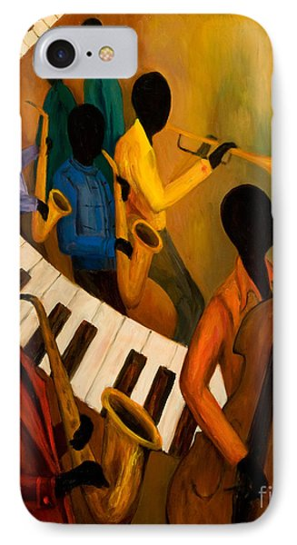 Jazz Quintet And Friends Phone Case by Larry Martin