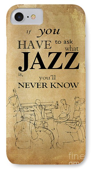 Jazz Quote - Louis Armstrong IPhone Case by Pablo Franchi