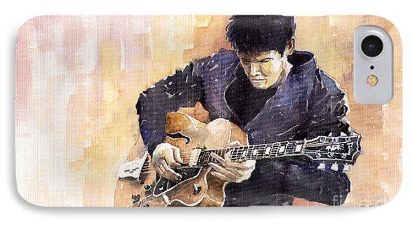 Impressionism iPhone 7 Case - Jazz Rock John Mayer 02 by Yuriy Shevchuk