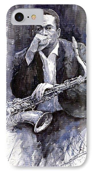Jazz Saxophonist John Coltrane Black IPhone 7 Case by Yuriy  Shevchuk