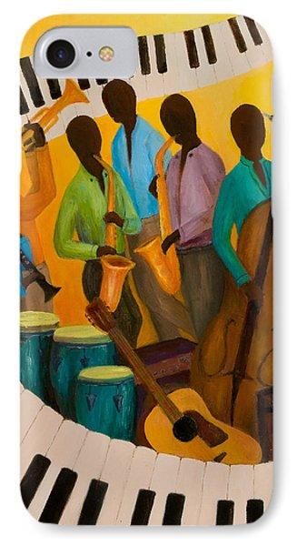 Jazz Septet Phone Case by Larry Martin
