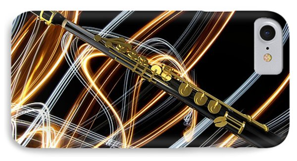 Jazz Soprano Sax IPhone Case by Louis Ferreira