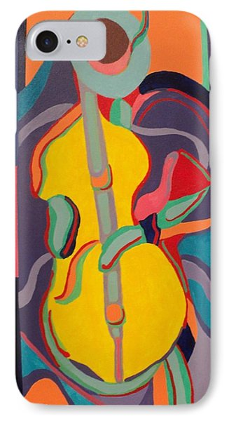 Jazzamatazz Cello IPhone Case by Angelo Thomas