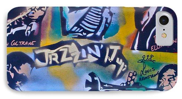 Jazzin It Up 1 IPhone Case by Tony B Conscious