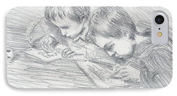 Jean Pierre Hoschede And Michel Monet IPhone Case by Claude Monet