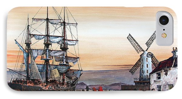 Jeanie Johnston Famine Ship IPhone Case by Val Byrne
