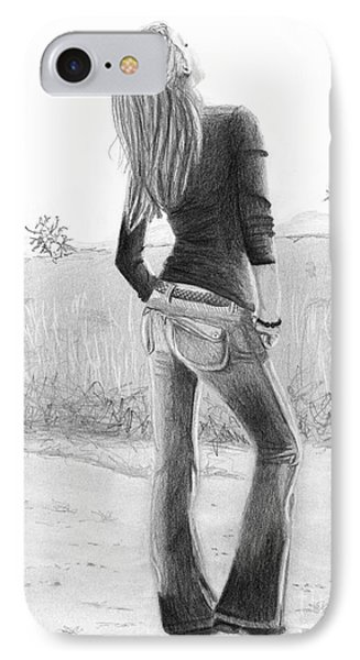 IPhone Case featuring the drawing Jeans by Denise Deiloh