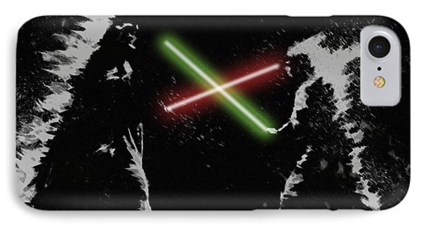 Jedi Duel IPhone Case by George Pedro