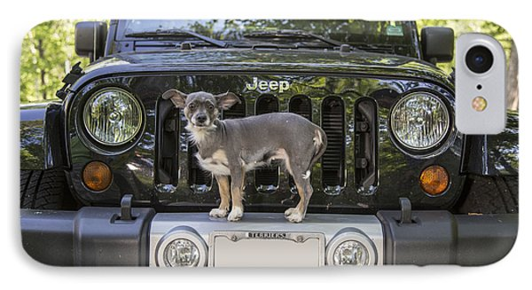 Jeep Dog Phone Case by Edward Fielding