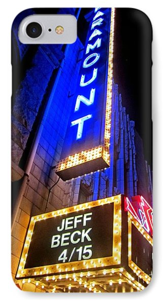 IPhone Case featuring the photograph Jeff Beck At The Paramount by Fiona Kennard