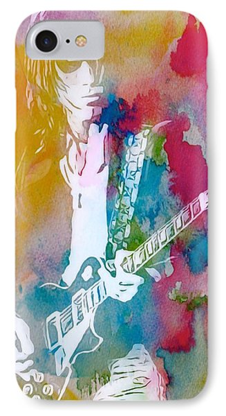Jeff Beck Watercolor IPhone Case by Dan Sproul