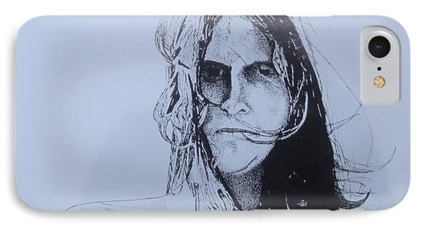 IPhone Case featuring the drawing Jeff by Stuart Engel