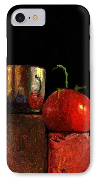 Jefferson Cup With Tomato And Sedona Bricks IPhone Case by Catherine Twomey