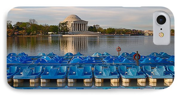 Jefferson Memorial And Paddle Boats Phone Case by Jerry Fornarotto