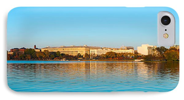 Jefferson Memorial iPhone 7 Case - Jefferson Memorial And Washington by Panoramic Images