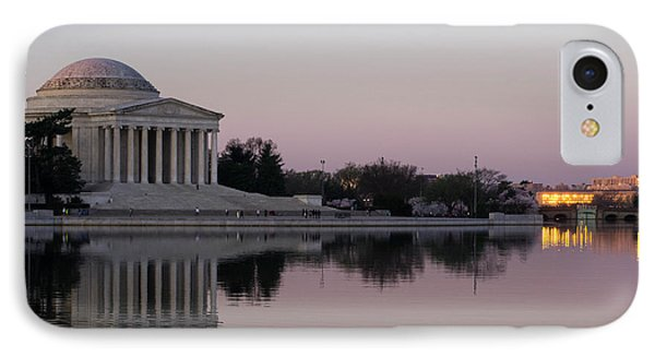 Jefferson Memorial At Sunrise I IPhone Case by Debra Bowers