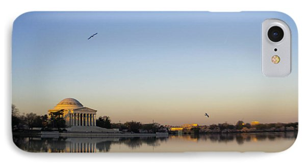 Jefferson Memorial At Sunrise Iv IPhone Case by Debra Bowers