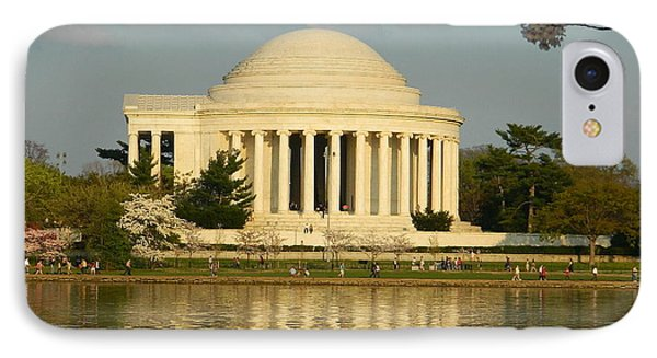 IPhone Case featuring the photograph Jefferson Memorial At Sunset by Emmy Marie Vickers