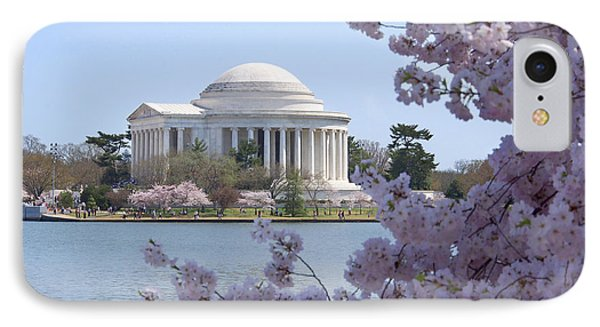 Jefferson Memorial iPhone 7 Case - Jefferson Memorial - Cherry Blossoms by Mike McGlothlen