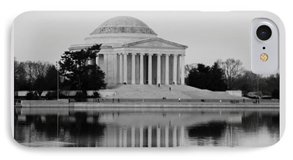 Jefferson Memorial In B And  W IPhone Case by Debra Bowers
