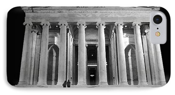 Jefferson Monument At Night Phone Case by Lane Erickson