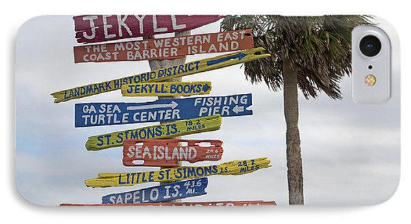 Jekyll Island Where To Go IPhone Case by Betsy Knapp