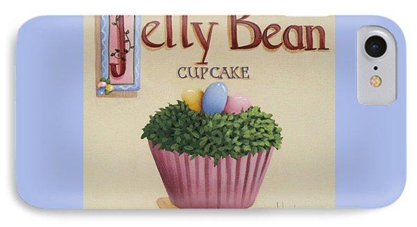 Jelly Bean Cupcake Phone Case by Catherine Holman