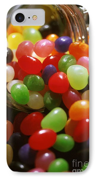 Jelly Beans Spilling Out Of Glass Jar Phone Case by Anonymous