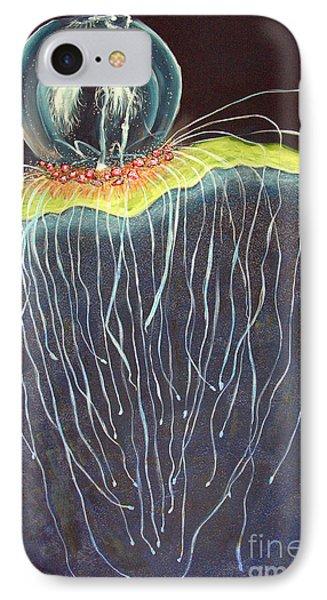IPhone Case featuring the painting Jellyfish.. by Jolanta Anna Karolska