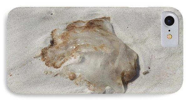 Jellyfish Moon Or Mushroom IPhone Case by Deborah DeLaBarre