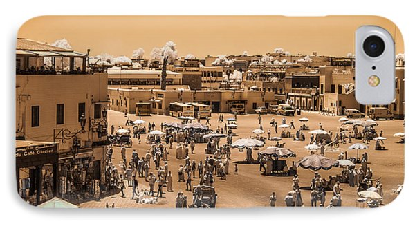 Jemaa El Fna Market In Marrakech At Noon IPhone Case