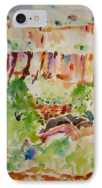 IPhone Case featuring the painting Jemez Cliff Study by Jeffrey S Perrine
