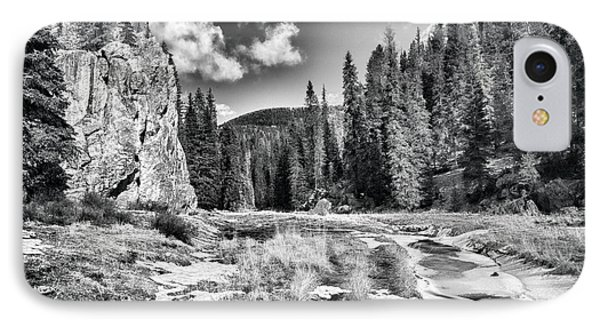 Jemez Mountain Spring-black And White IPhone Case