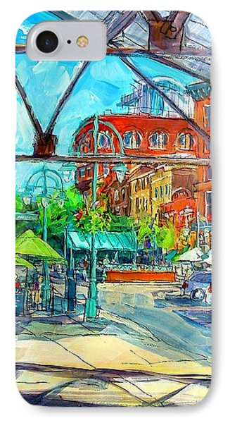 IPhone Case featuring the painting Jennaro's View by Les Leffingwell