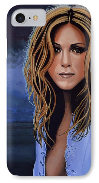 Jennifer Aniston Painting IPhone Case